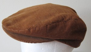 brown corduroy newsboy cap